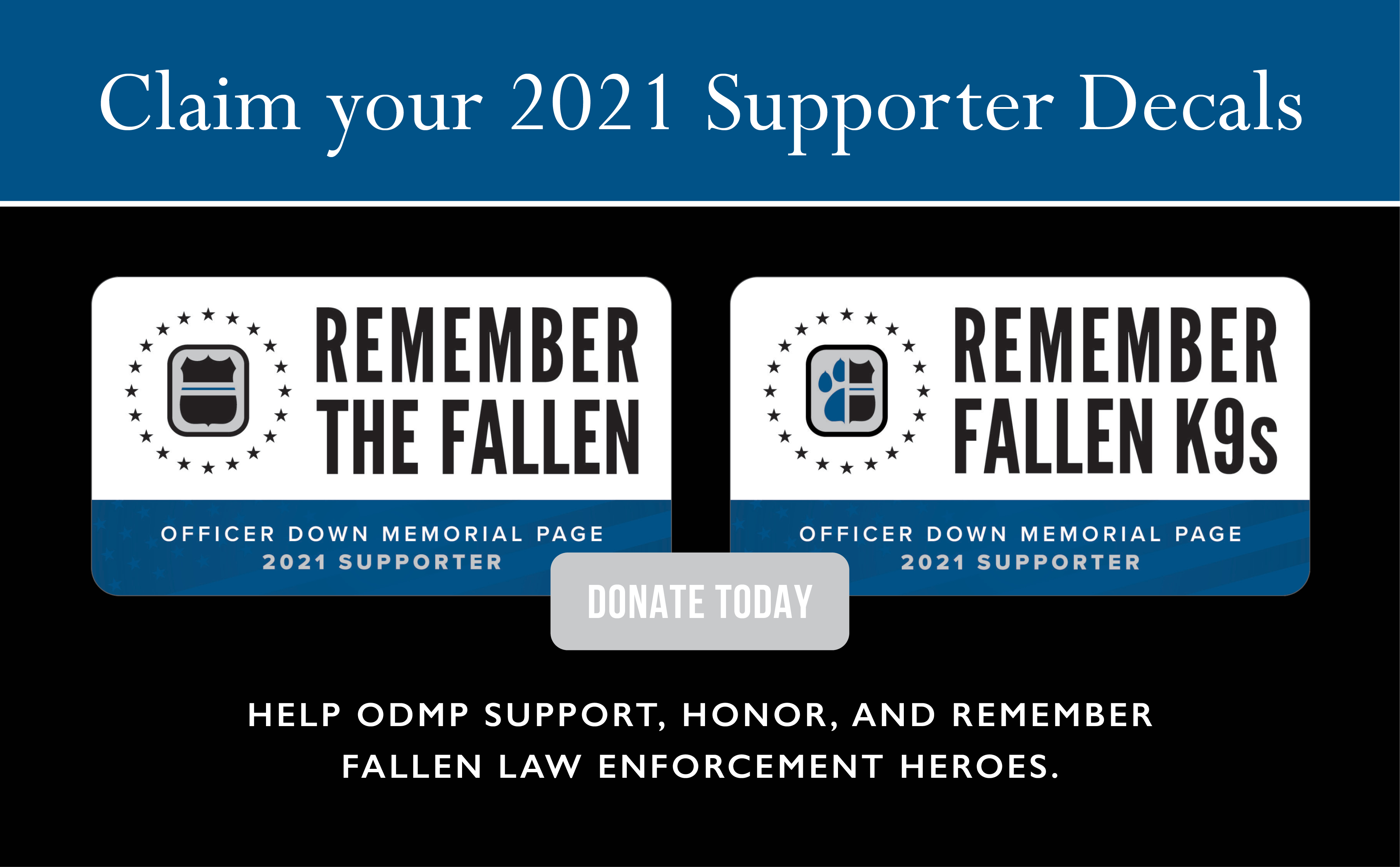 Donate to ODMP